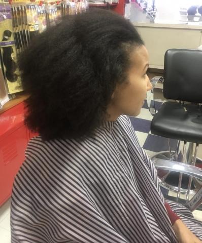 Women's Haircut - before