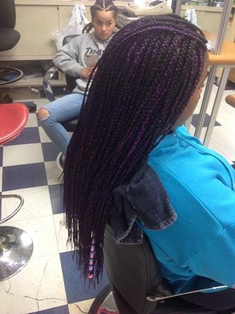Braids on a girl's hair