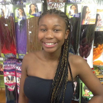 Hair Twists on young girl