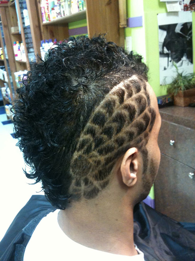 Haircut with design