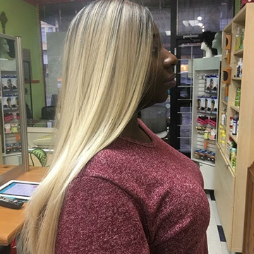 Hair Extensions on woman
