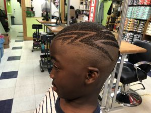 Children's Haircut with design
