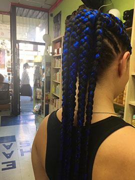 Cornrow Braids in ponytail