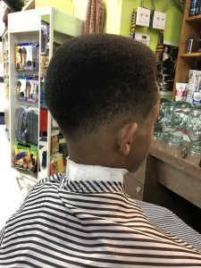 Haircut with fade