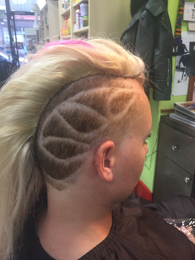 Women's Haircut with design